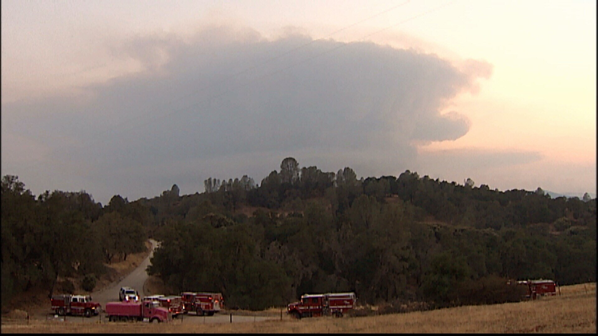 Firefighters continue progress against wildfire