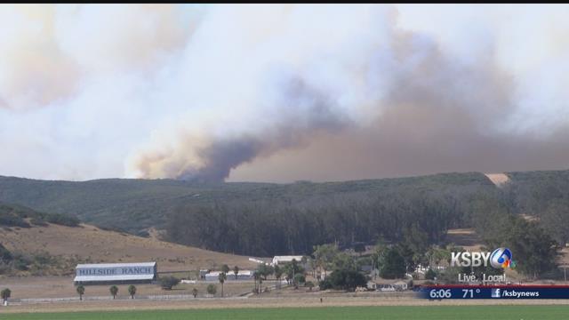 Crews halt growth of California Air Force base wildfire