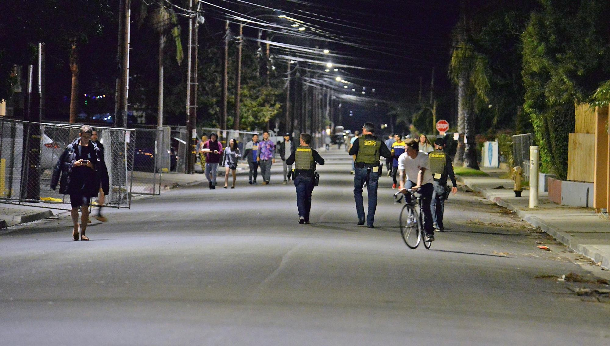 A look at patrols in Isla Vista during a prior Halloween. (Photo: SB COUNTY FIRE)