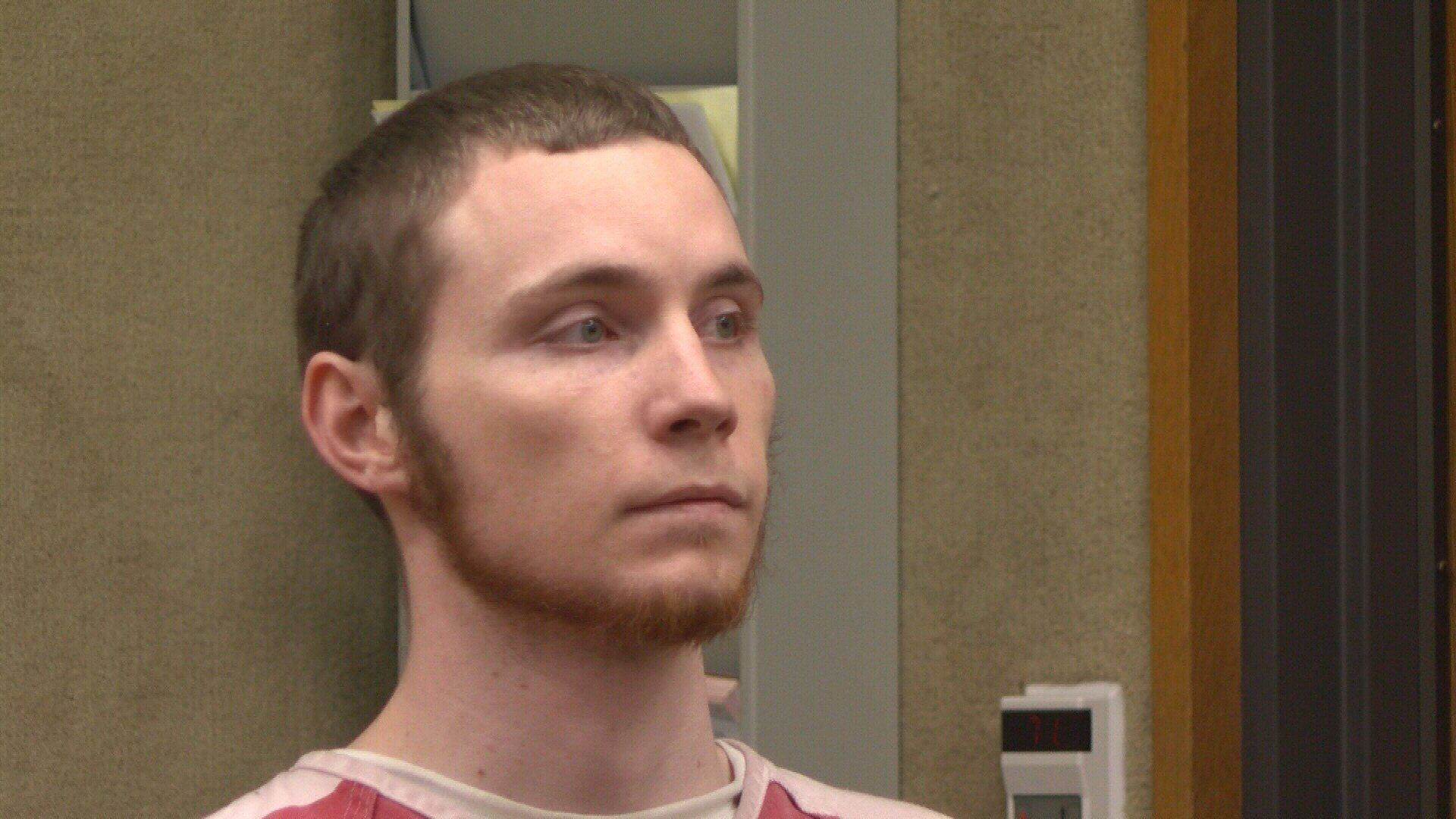 William Joel Schonberger appears in court for his arraignment after being charged with murder in connection with his father's death.  (KSBY)
