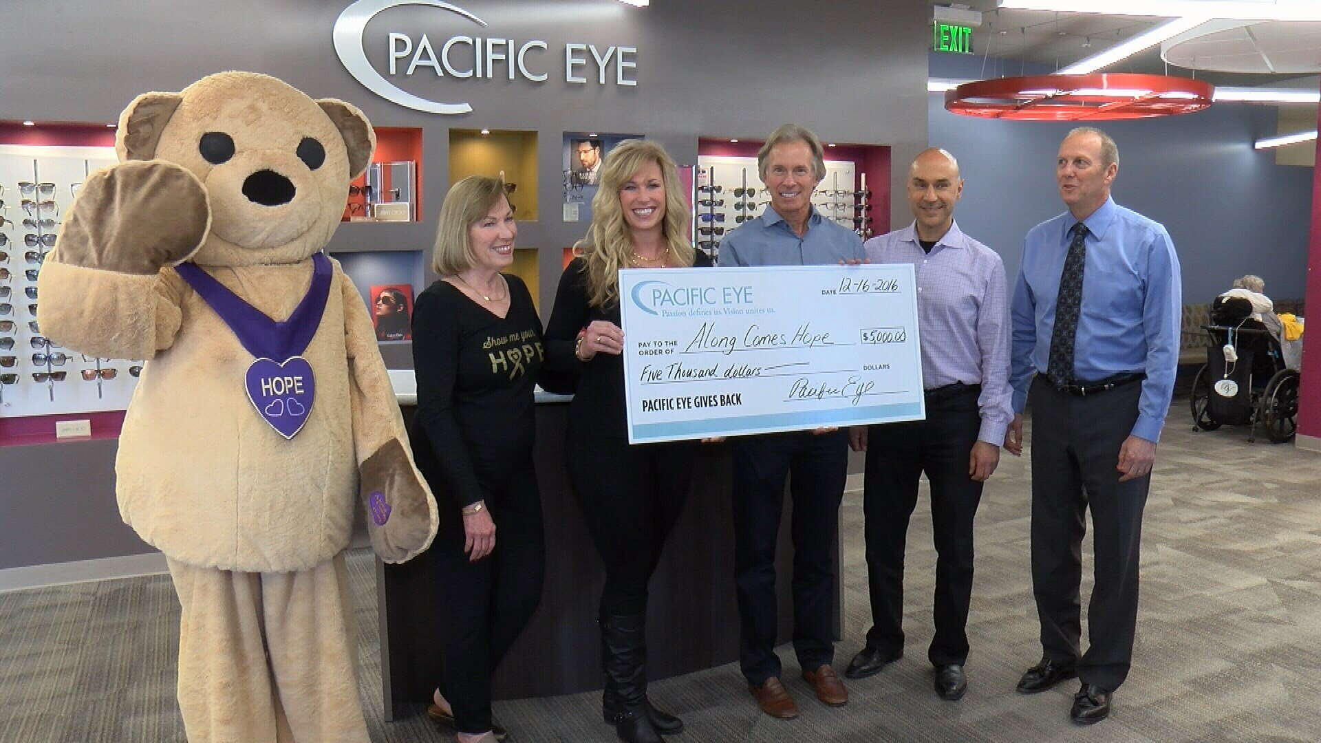 Courtesy Photo: 1st place winners Along Comes Hope from the 2016 Pacific Eye Gives Back Challenge.