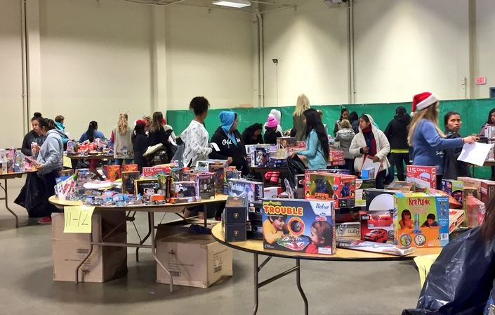 Thousands of BCS kids get gifts, Christmas cheer through Salvation Army