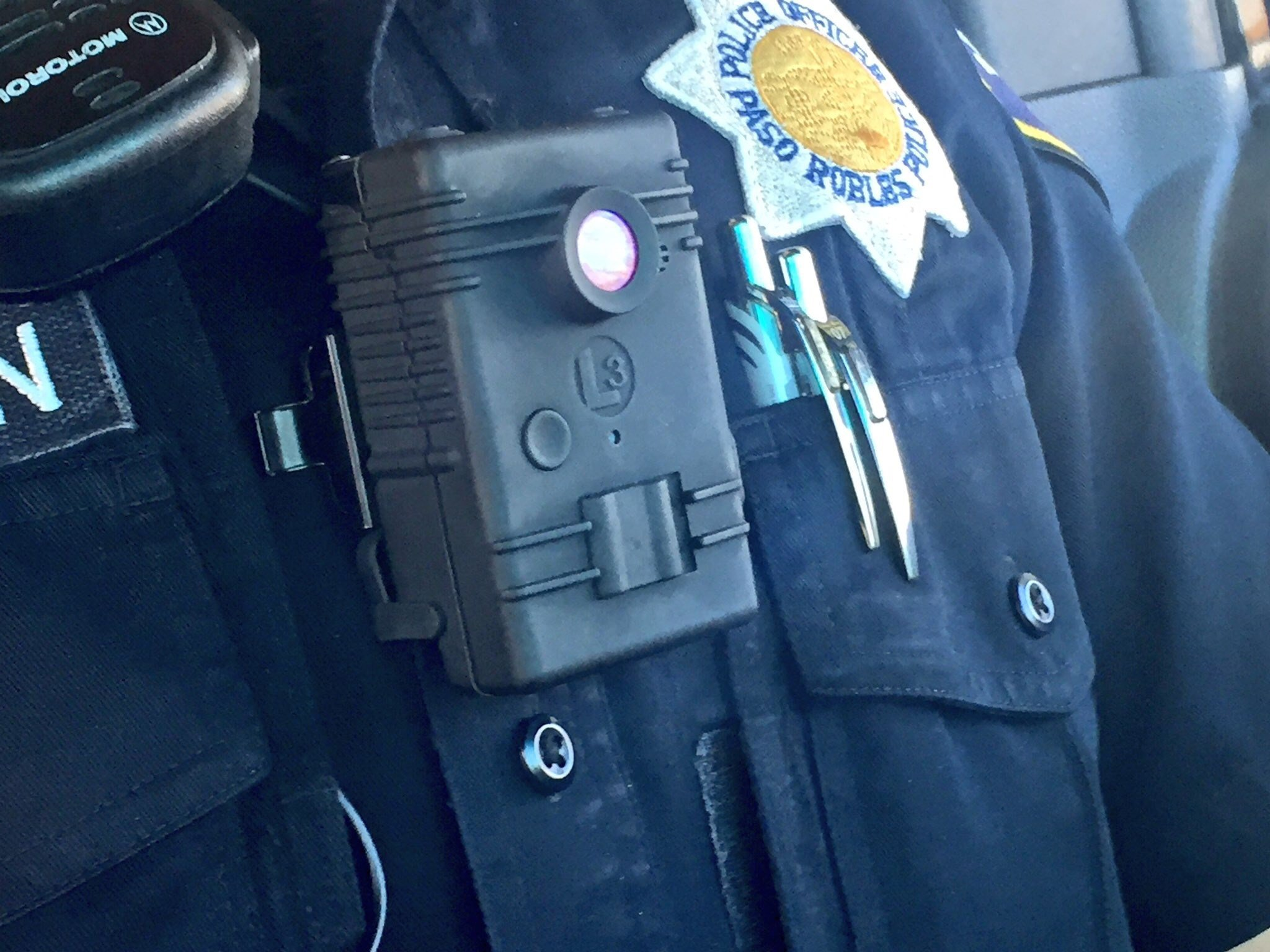 Paso Robles police test out body cameras. (KSBY)