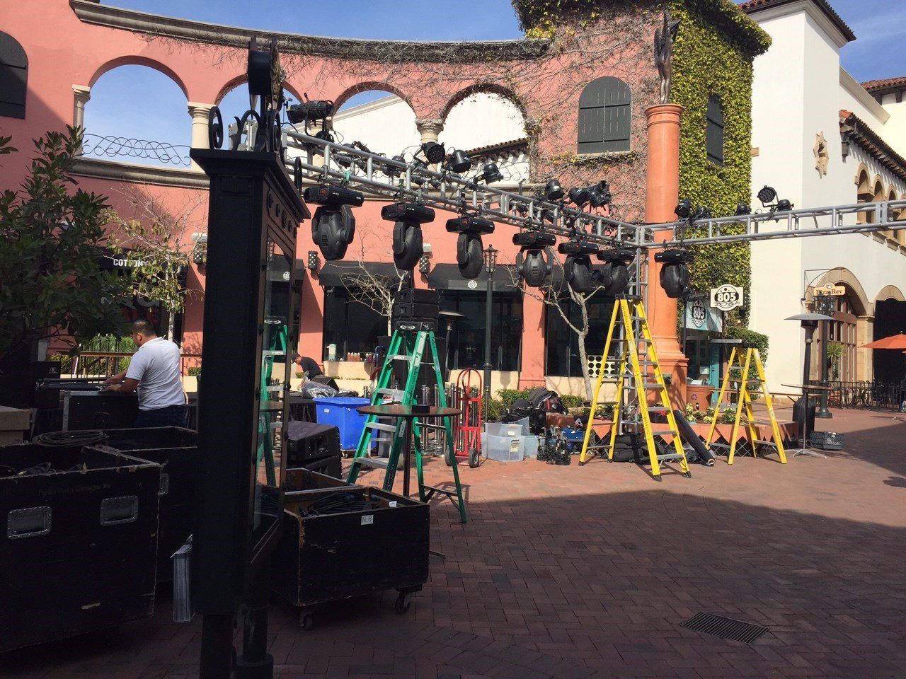 Preparations for the opening night of the Santa Barbara International Film Festival. (KSBY photo)