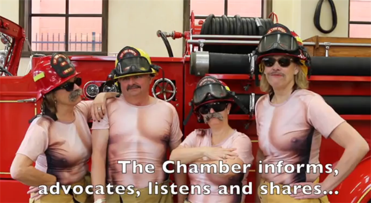 Screen grab from a video produced by San Luis Obispo Fire Chief Garret Olson for a Chamber of Commerce dinner.