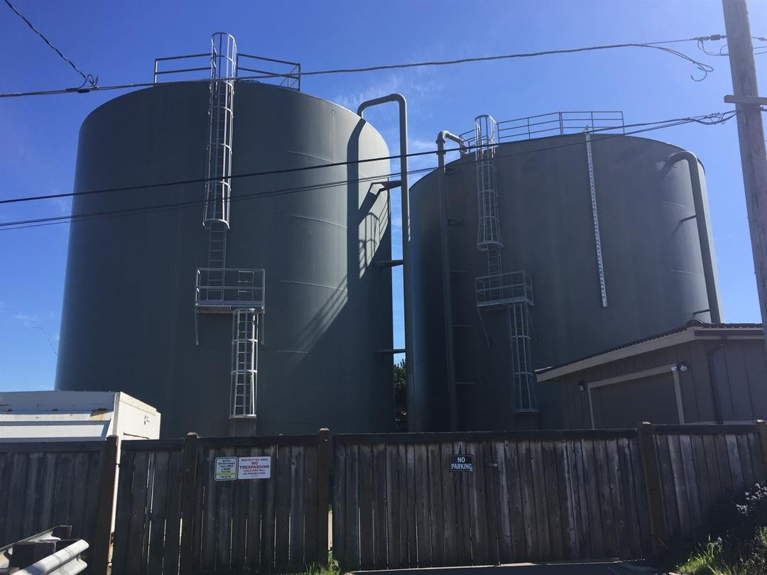 Water tanks in Los Osos. (KSBY photo)