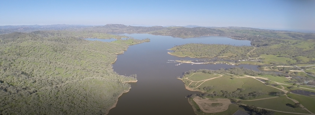 KSBY: Aerial view of Lake Nacimiento