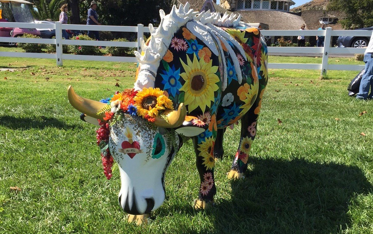 CowParade at Madonna Inn in San Luis Obispo. (KSBY photo)