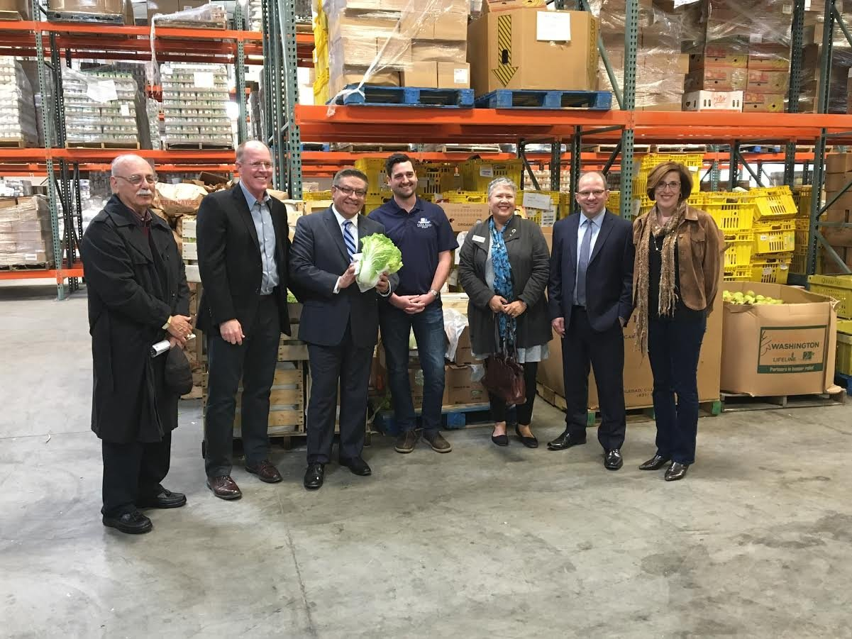 Congressman Salud Carbajal visited the new food bank in San Luis Obispo Wednesday. (KSBY photo)