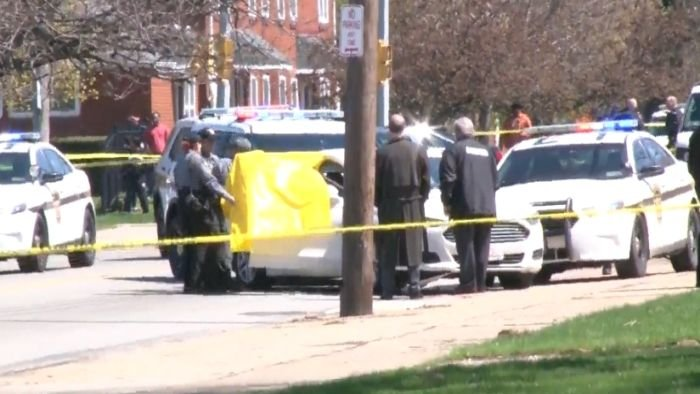 Police say Steve Stephens shot himself following a chase in Erie, Pennsylvania. (NBC photo)
