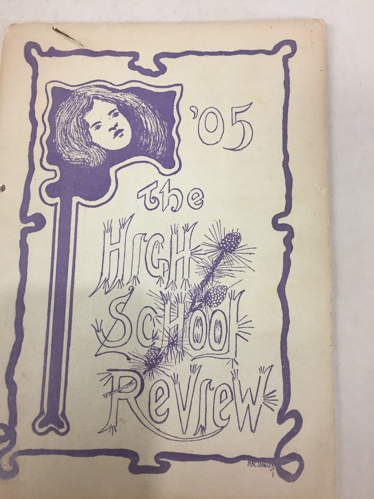 A preserved 1905 Santa Maria High School yearbook from the Santa Maria Historical Society.