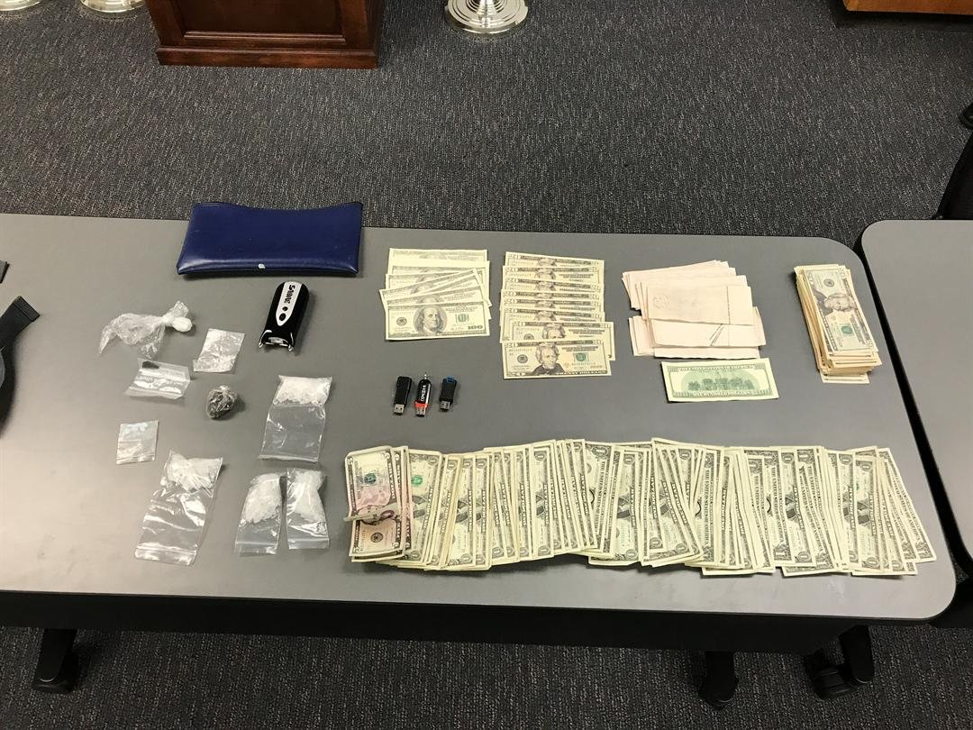 Two Fresno residents were arrested for charges of forgery and possession of a controlled substance for sales. (Credit: SLOPD)