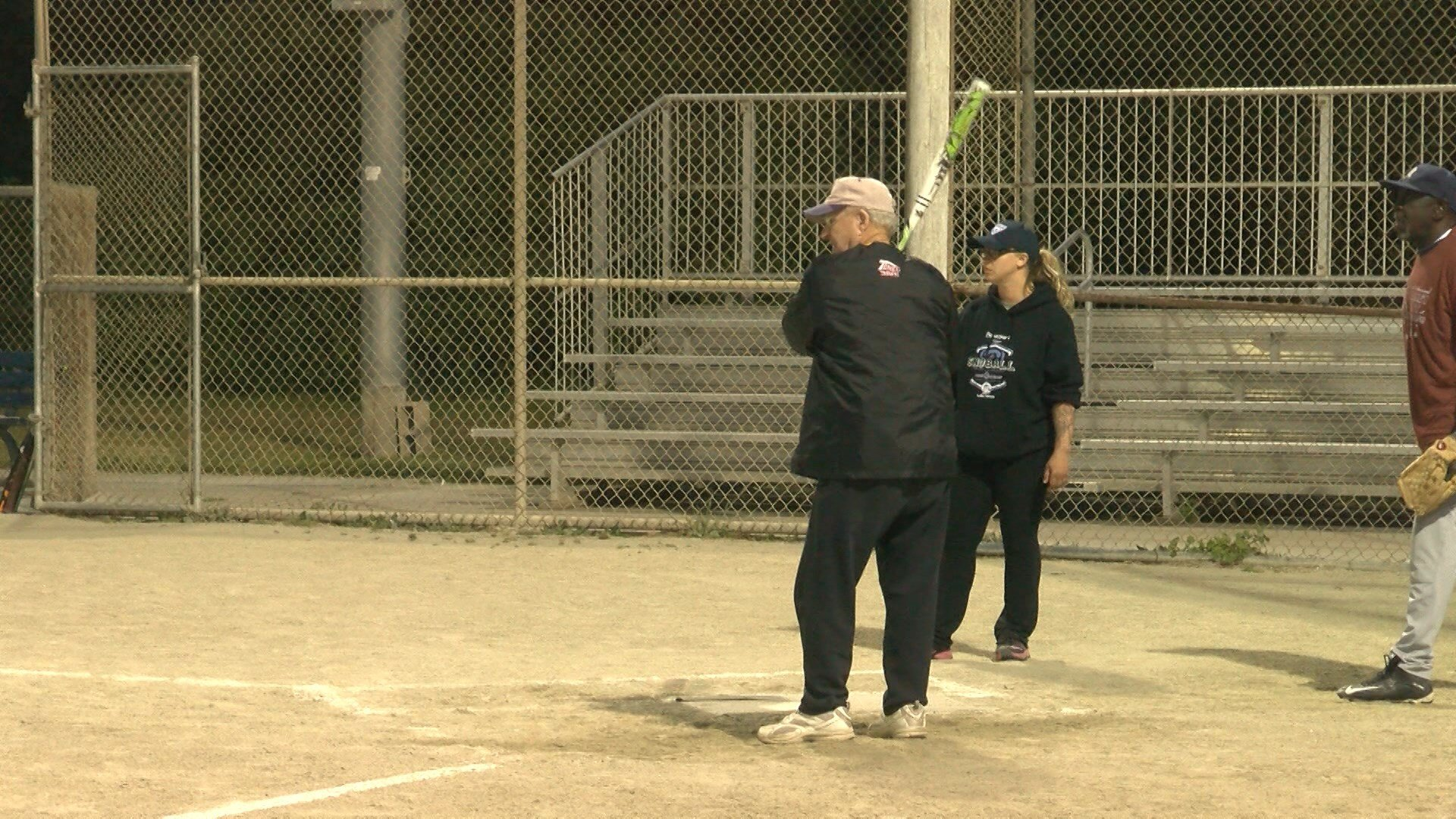 Johnny Bass, 82, plays softball for the Morro Bay South Bay Grays Senior Softball Team. (KSBY photo)