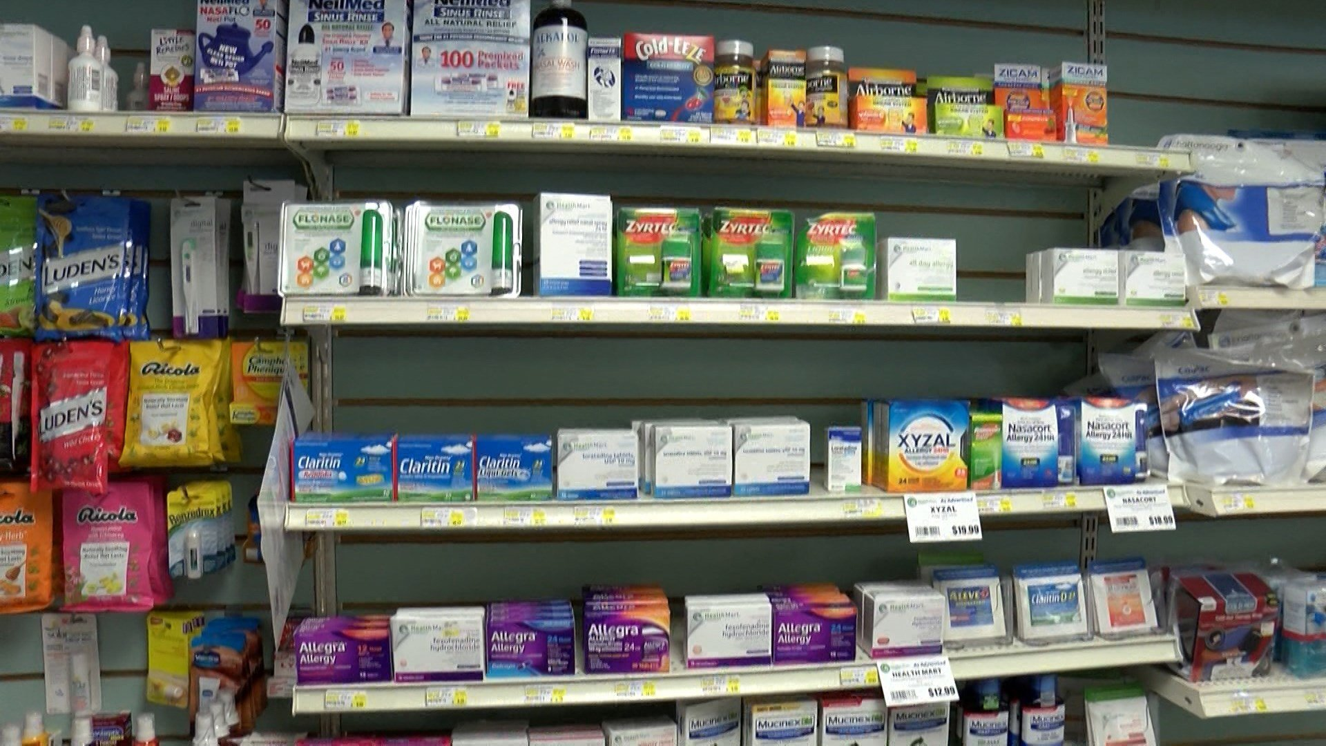 Pharmacists say over the counter allergy medications are flying off the shelves this allergy season. (KSBY photo)