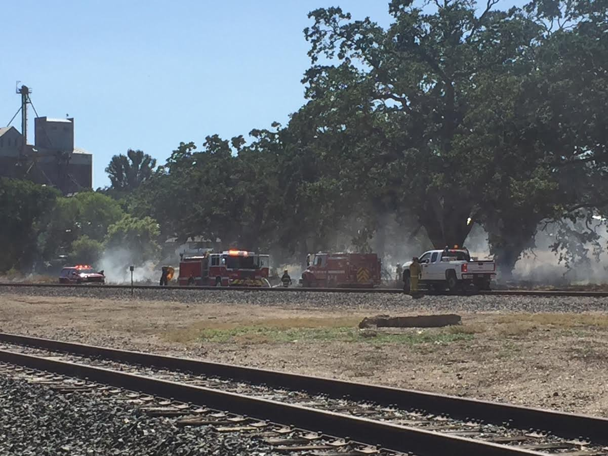 Firefighters worked to put out a fire that broke out Wednesday in Templeton. (Photo: Elise McMasters)