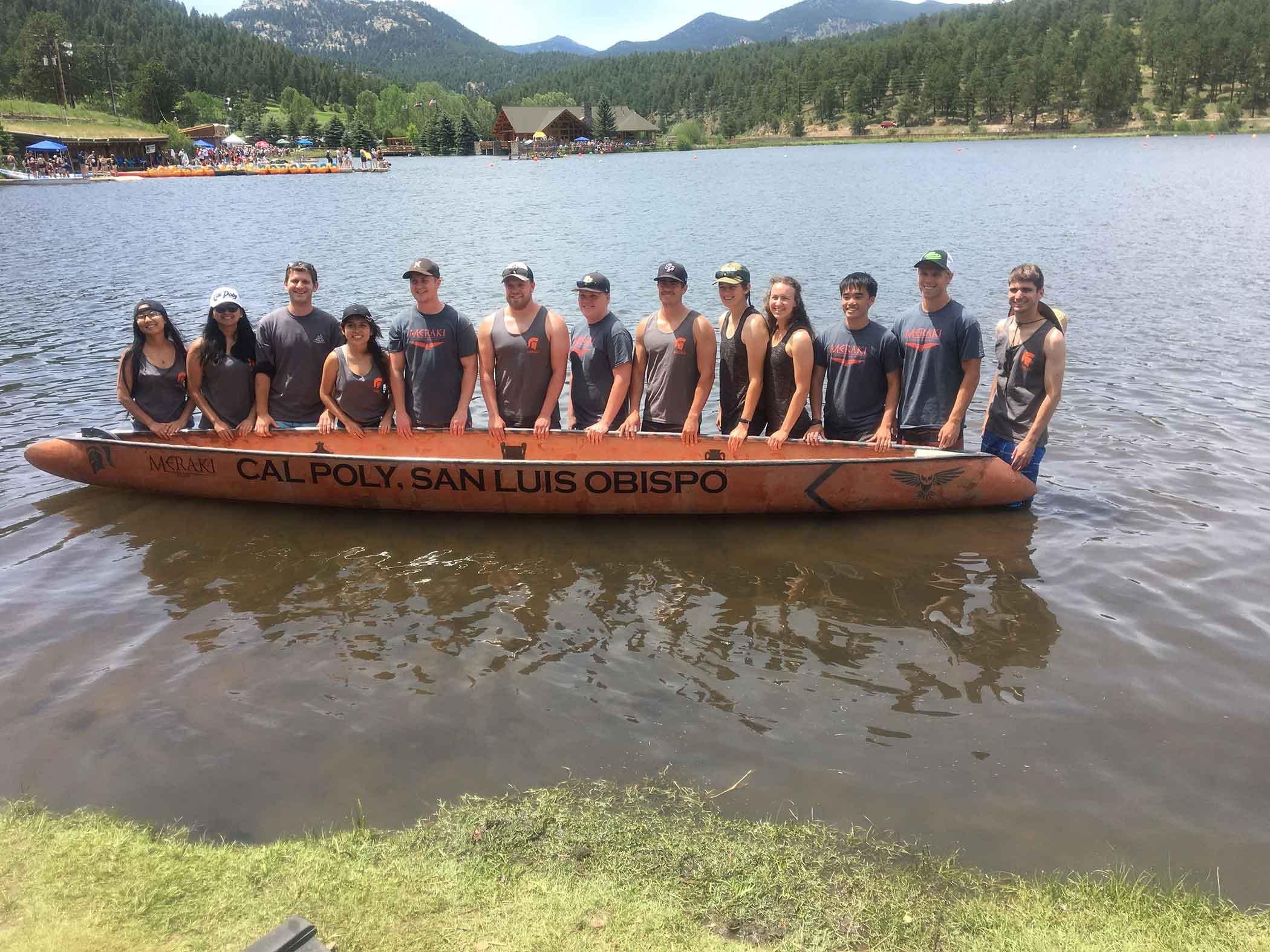 Cal Poly's 2017 canoe team. (Photo courtesy Cal Poly)