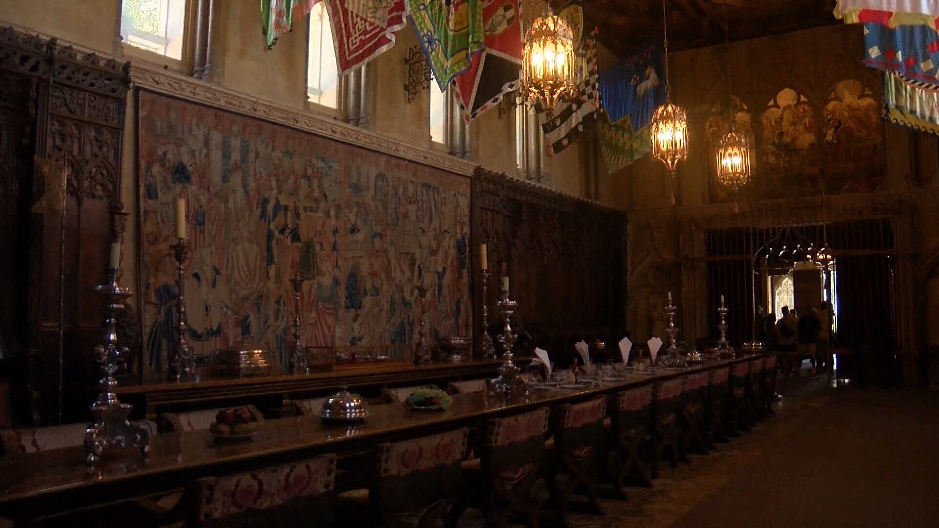 Hearst Castle's Refectory (dining room). (KSBY photo)