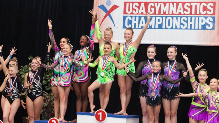 CCG Level 8 Women's Trio took first place