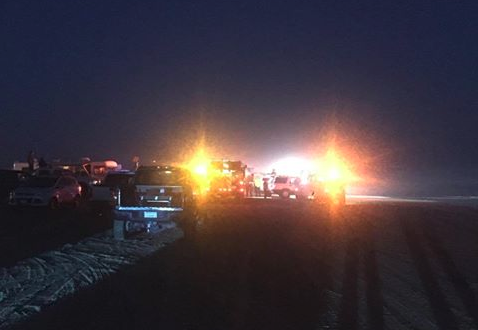 Rescue crews on scene Sunday night at the Oceano Dunes. (Photo: Ihab Tannous)