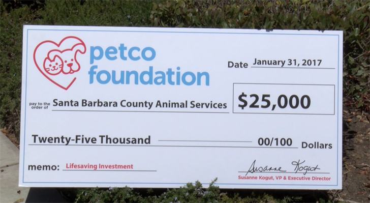The Petco Foundation says they jump-started the application process after hearing about an innovative program at Santa Barbara Animal Services. (KSBY Photo)