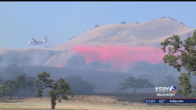Two-Alarm Vegetation Fire Burning Along Foxen Canyon Road