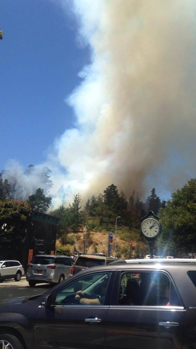 The Bridge Fire in Cambria is so close to town, it's prompted evacuations. (Credit: Fernando Esparza)