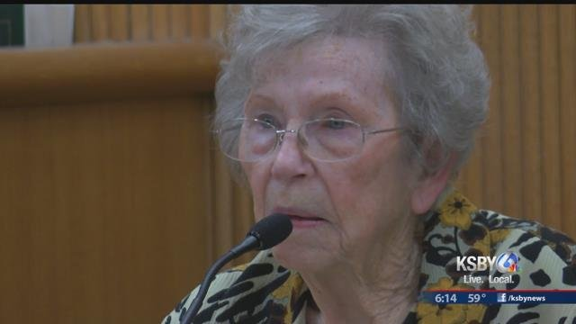 Betty Long testifies in court Tuesday. (KSBY)