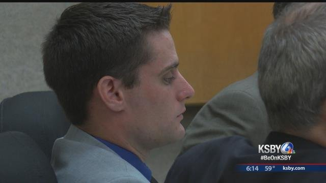 Alex Geiger at his preliminary hearing Tuesday (KSBY)