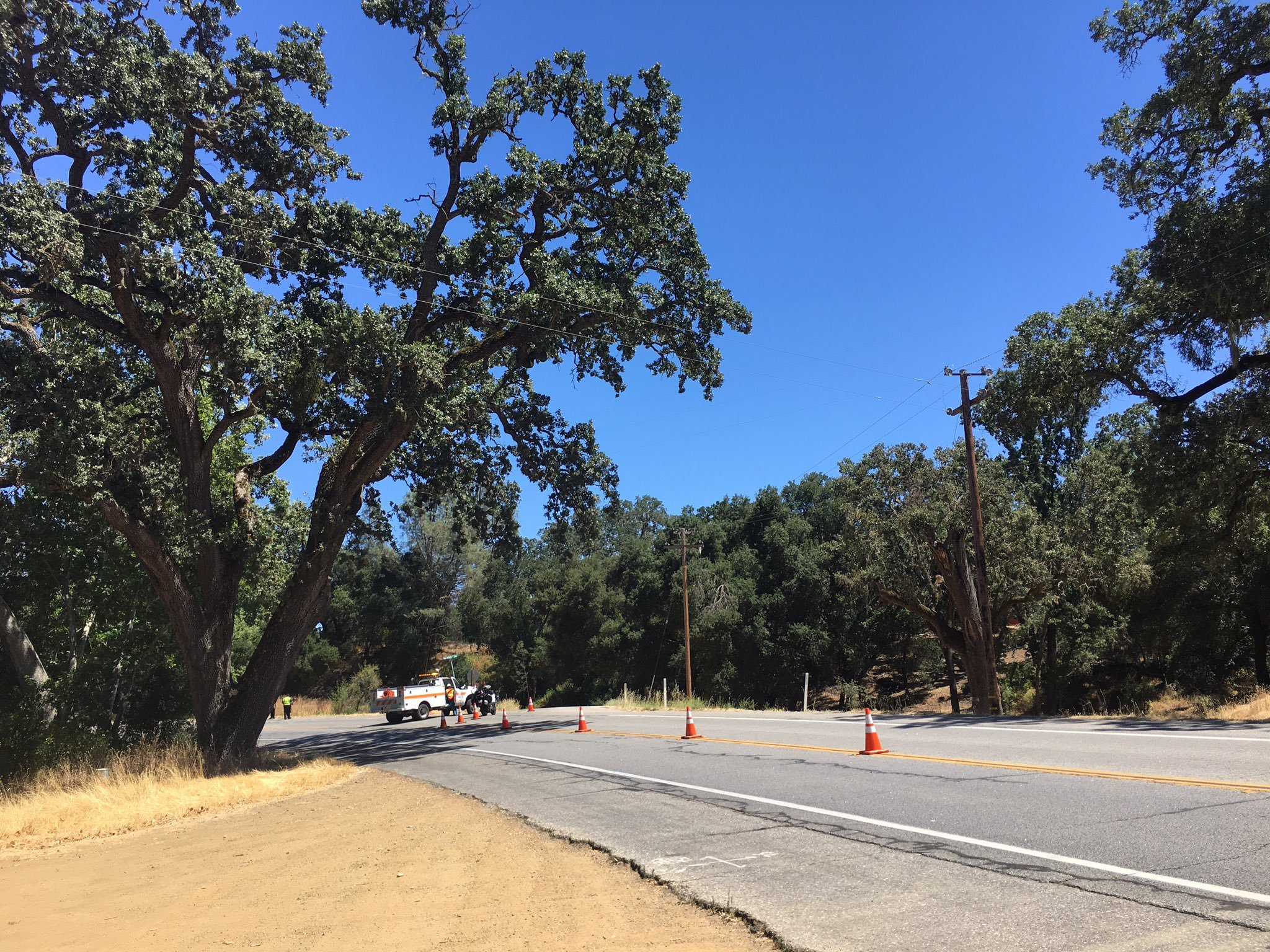 Police investigate a fatal crash on Highway 41 West in Atascadero. (KSBY photo)