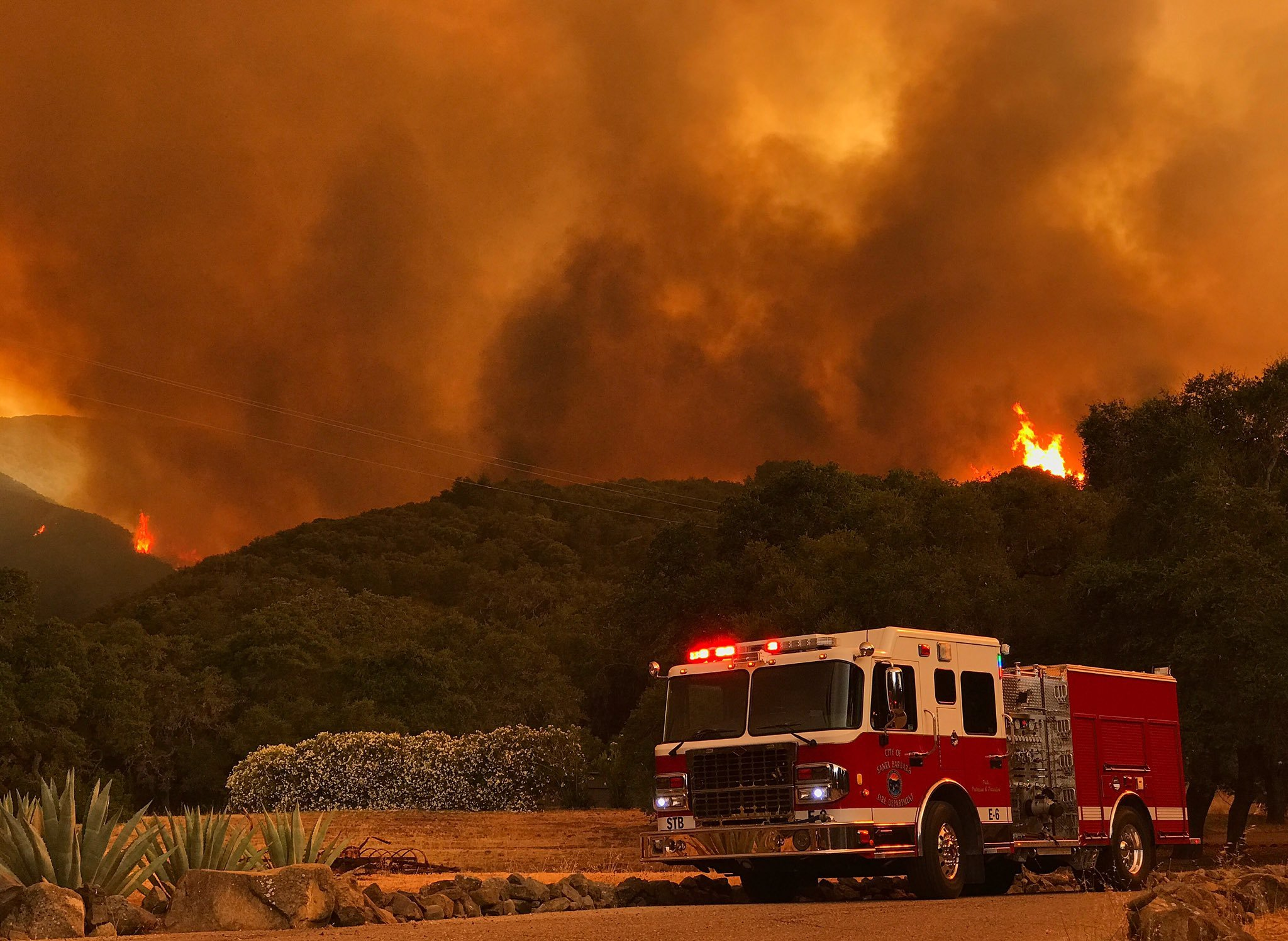 Photo courtesy Mike Eliason/Santa Barbara Co. Fire Dept.