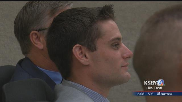 Alex Geiger listens to testimony at his preliminary hearing Wednesday.
