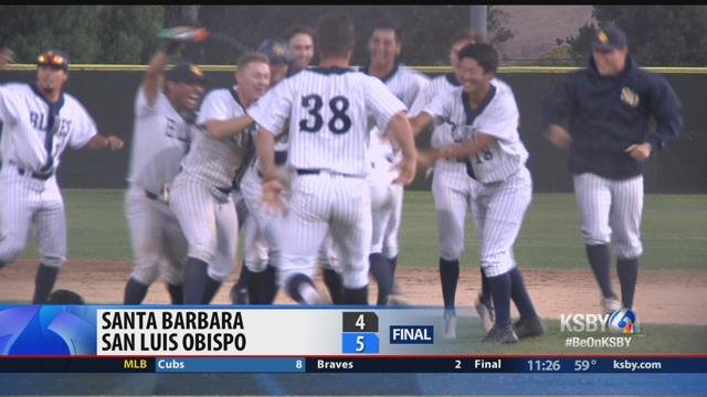SLO Blues rally for a ninth-inning 5-4 win