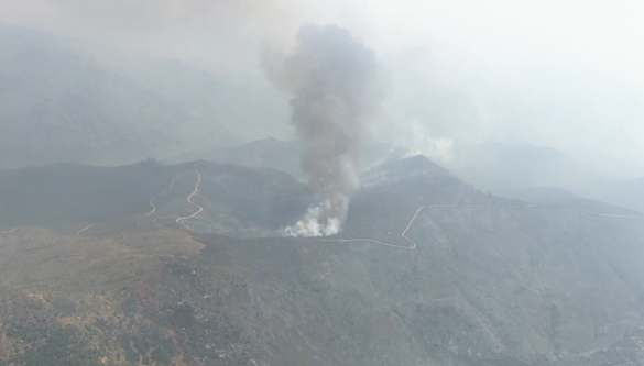 Smoke from the Detwiler Fire. (NBC photo)