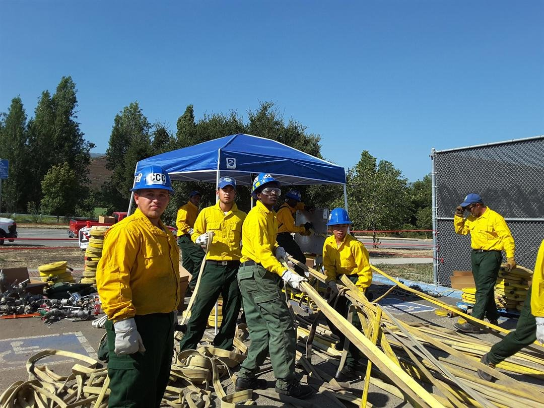 Crews begin to clean up and head home or to another fire as the Whittier Fire wraps up. (Credit: InciWeb)
