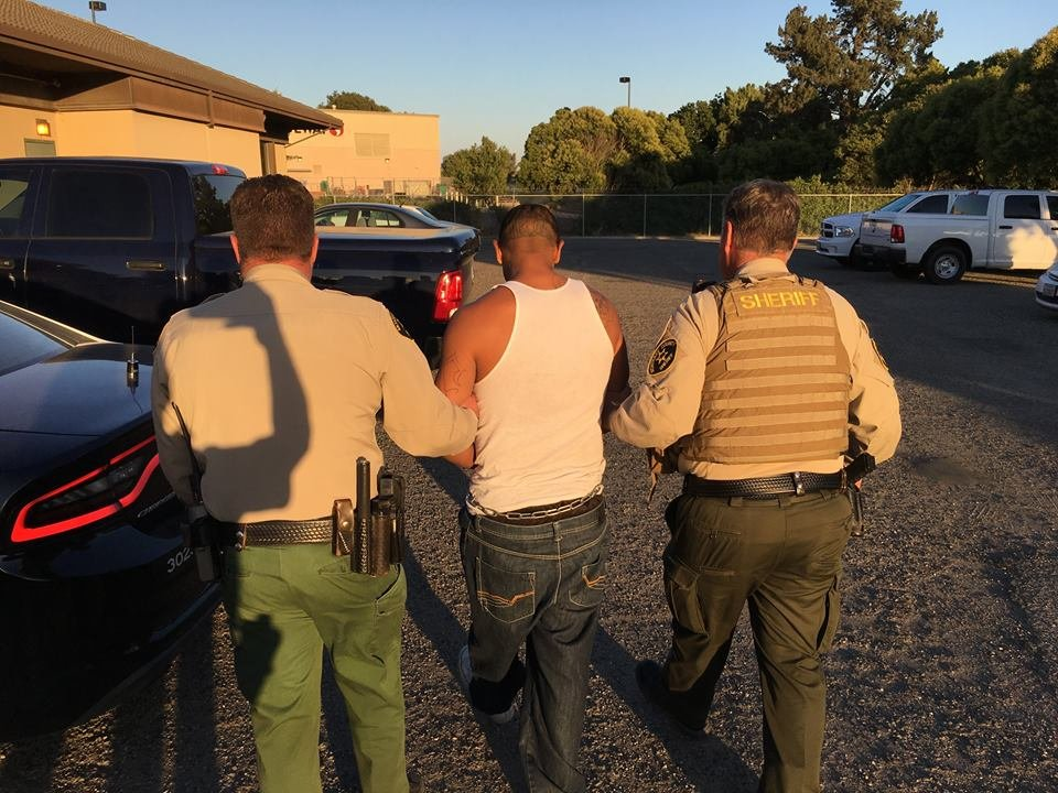 The Monterey County Sheriff's Office released these images of David-Zosimo Pacheco Carrasco's June 14 arrest shortly after taking him into custody.