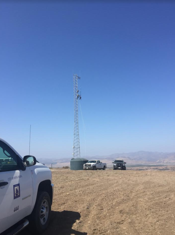 A rescue was underway at a radio tower in Orcutt Wednesday afternoon. (KSBY photo)