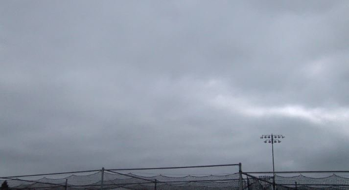 Fog at Arroyo Grande High School obscured the solar eclipse on Monday. (KSBY photo)