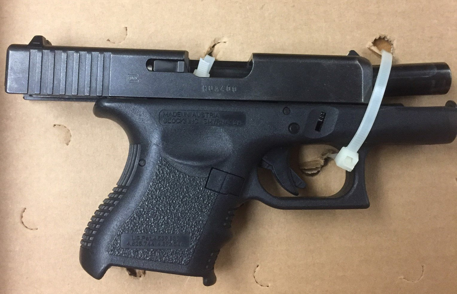 Glock that was seized at the crime scene