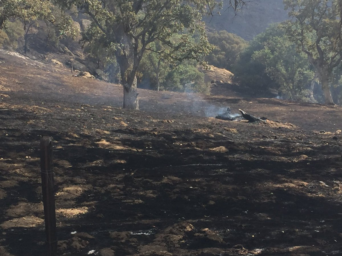Forward progress of the Margarita Fire was reportedly stopped Sunday evening. (KSBY photo)