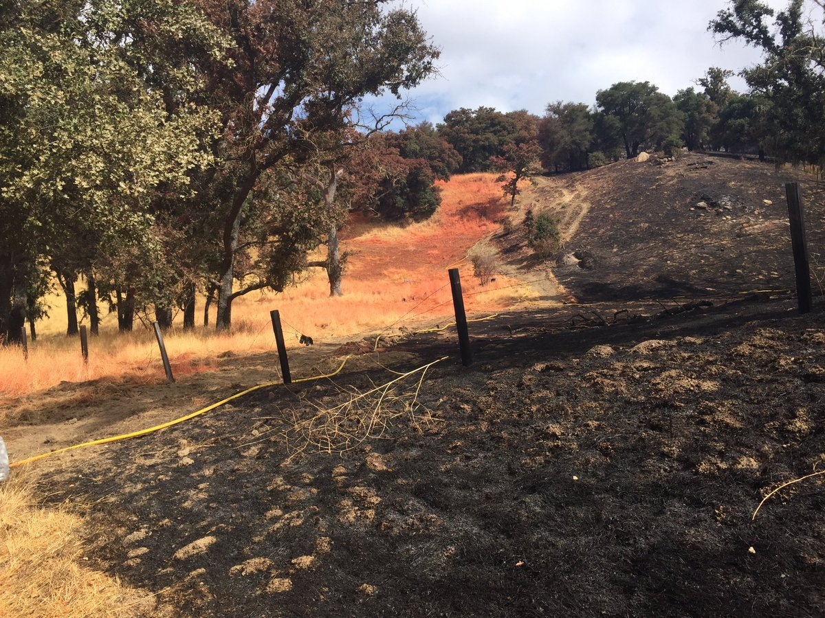 The Margarita Fire broke out Sunday evening along Highway 58 and Pozo Road. (KSBY photo)