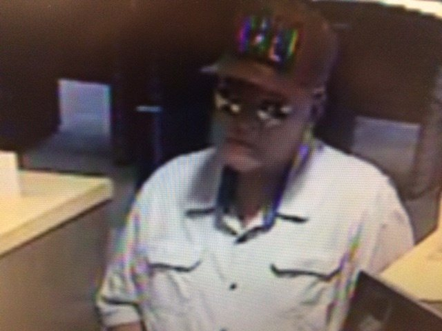 Image of the bank robber provided by SMPD.