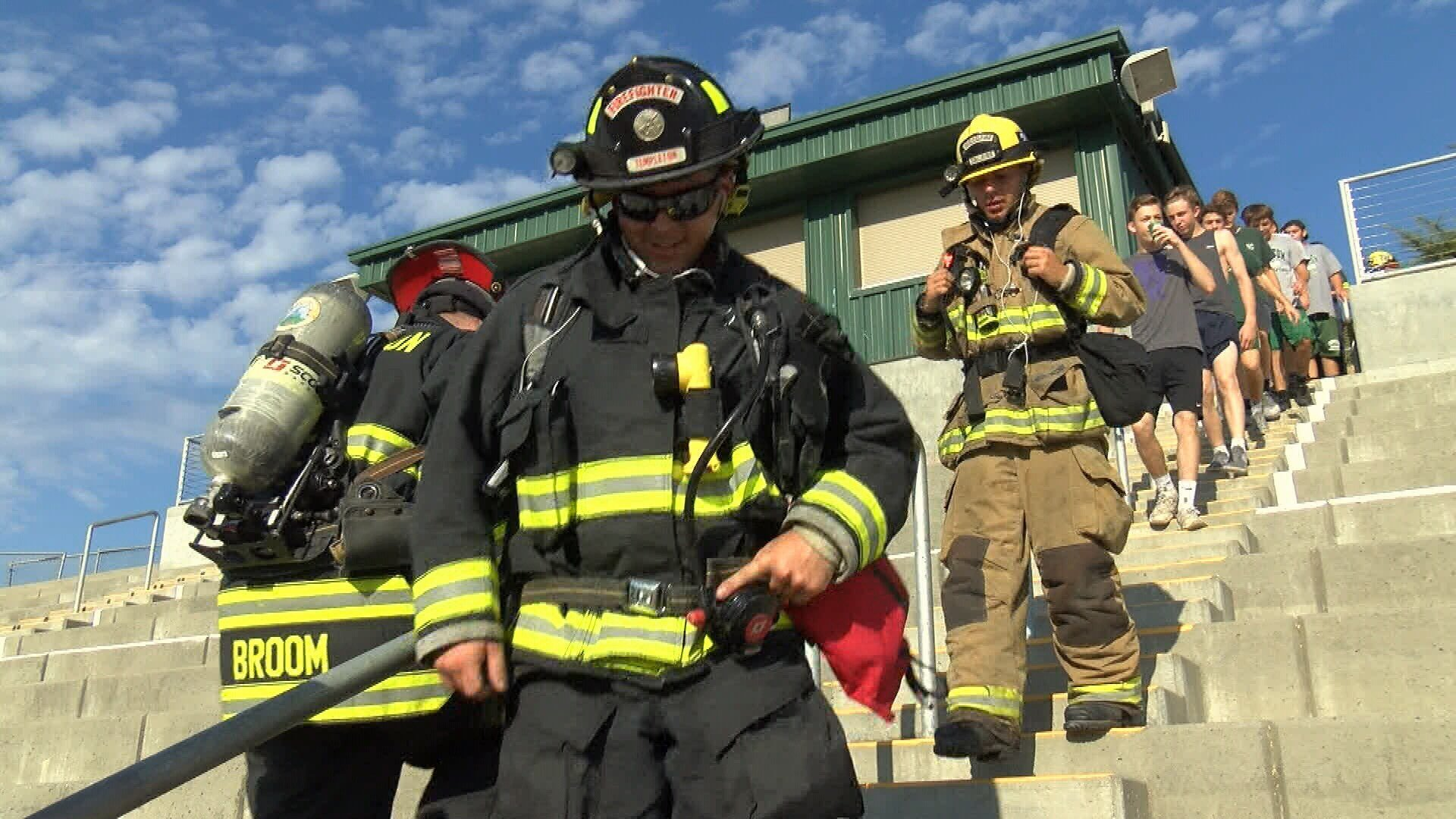 Tulsa firefighters take part in 9/11 Memorial Stair Climb