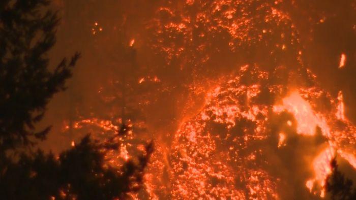 Eagle Creek Fire, Oregon (NBC photo)