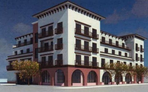 A mixed-use building is planned for the northwest corner of Broadway & Main St. in downtown Santa Maria (Courtesy: City of Santa Maria)