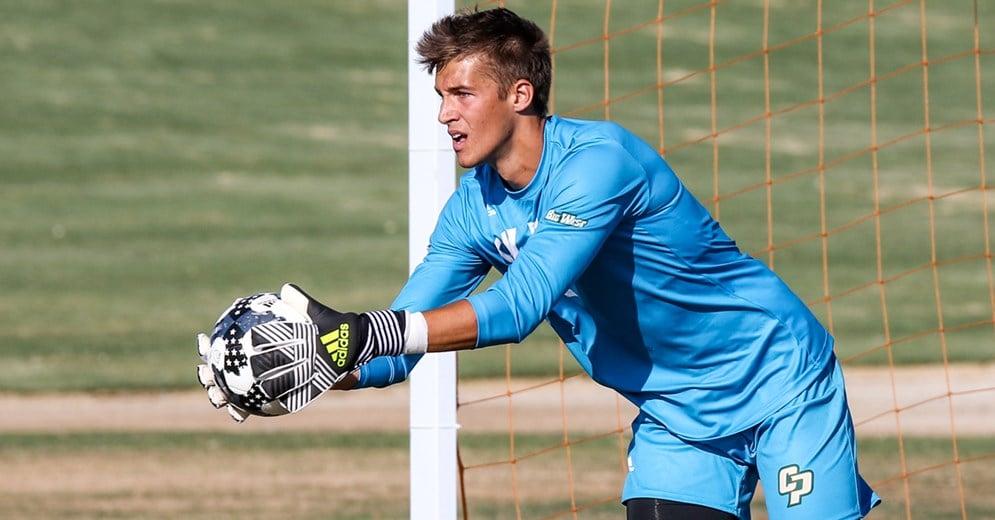 Cal Poly goalkeeper, Simon Boehme