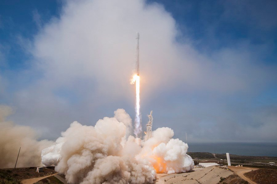 A previous SpaceX Falcon 9 rocket launch that happened in October 2017. (KSBY File Photo)