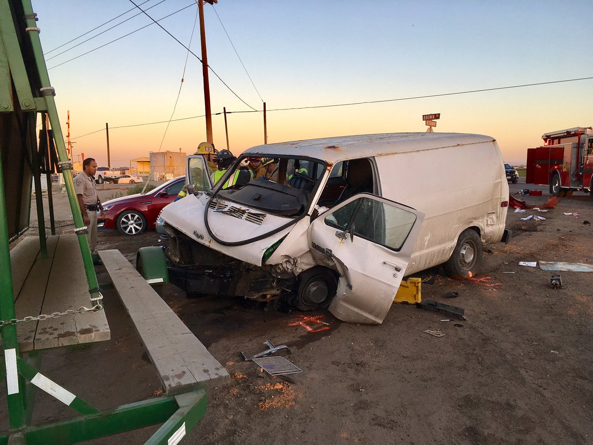 Fire officials say the injuries in Thursday morning's crash appeared to be minor to moderate. (SB Co. Fire photo)