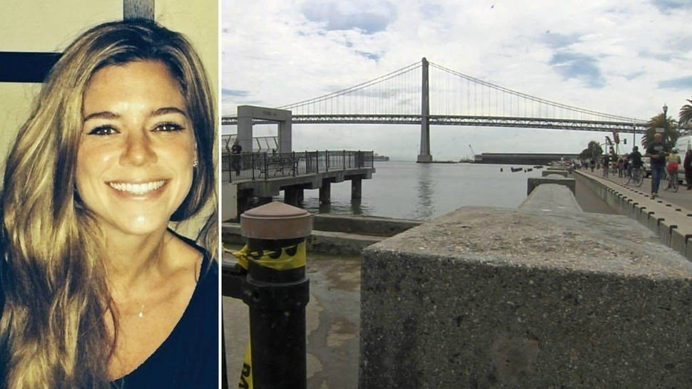 Pictured: victim Kathryn Steinle and Pier 14 in San Francisco, where Steinle was fatally shot. (Courtesy: KNTV)