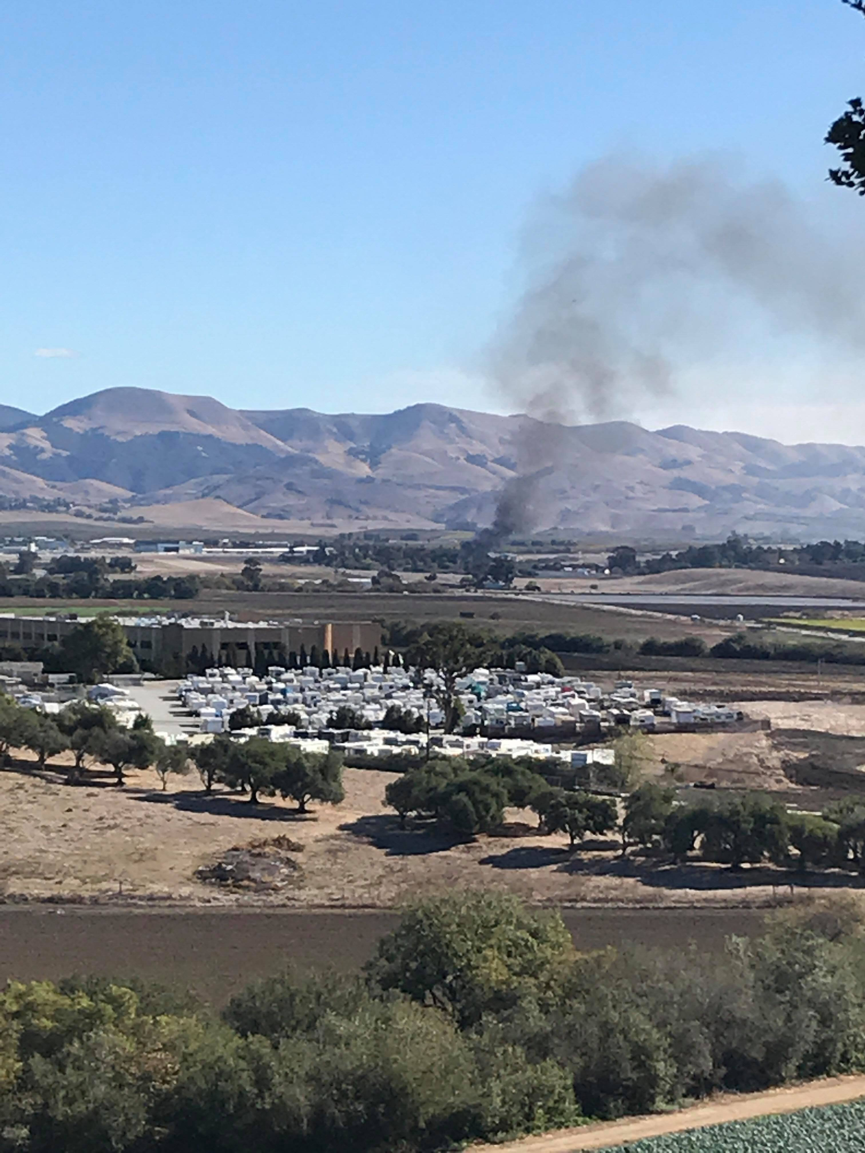 Flames seen from the KSBY station. (KSBY Photo)