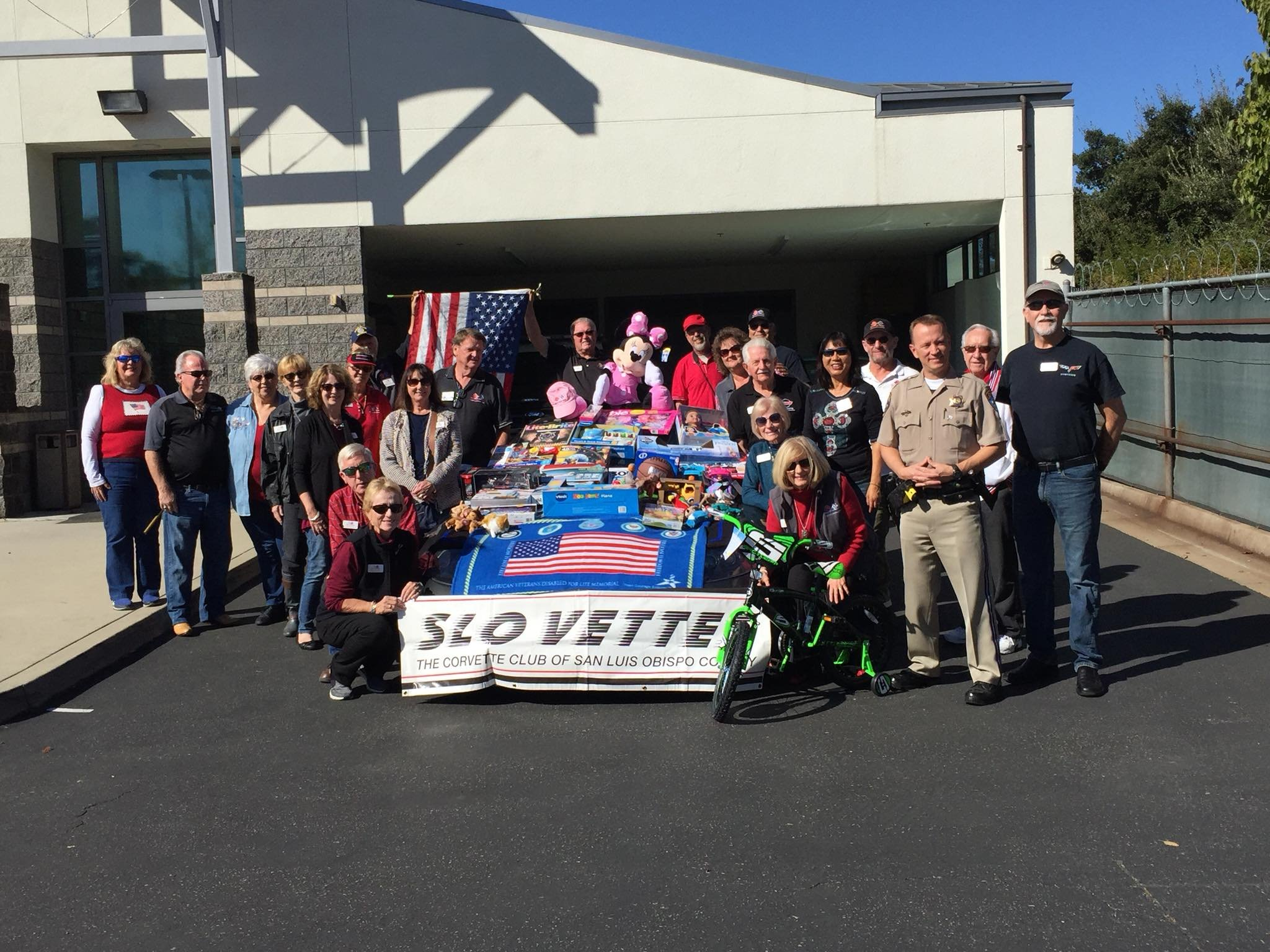Toys were dropped off this weekend by the SLO Vettes corvette club of SLO County for the CHP's CHiPs for Kids toy drive. (Photo: SLO CHP)